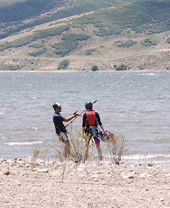 Kite Boarding Instruction Deer Creek Reservoir Utah